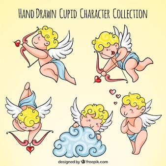 Pak van schattige cupid personages