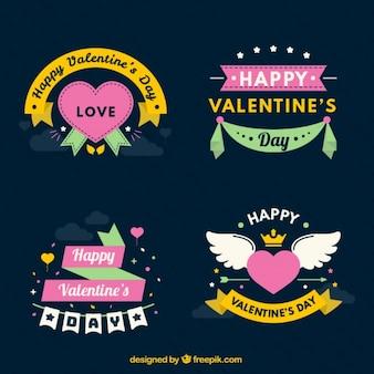 Pak van stickers de gelukkige valentijnskaart