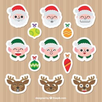 Pak van stickers met kerst personages