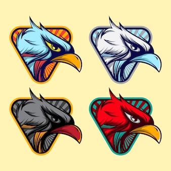 Pak van vector eagle badge