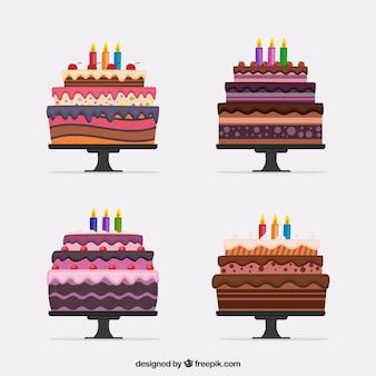 Pak van vier heerlijke cakes