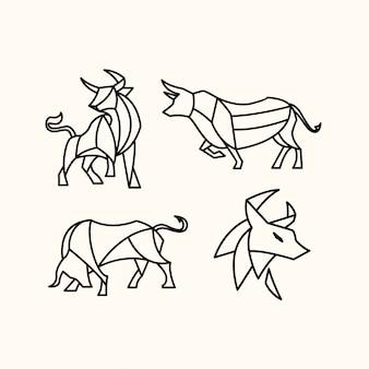 Pak veelhoekige stier