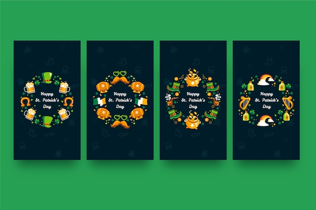 Pak verschillende kleurrijke st. patrick's day verhalen
