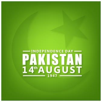 Pakistan 14 augustus onafhankelijkheidsdag groene achtergrond