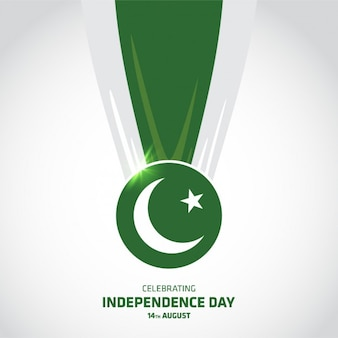 Pakistan independence day achtergrond ontwerp
