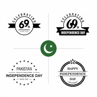 Pakistan independence day badges