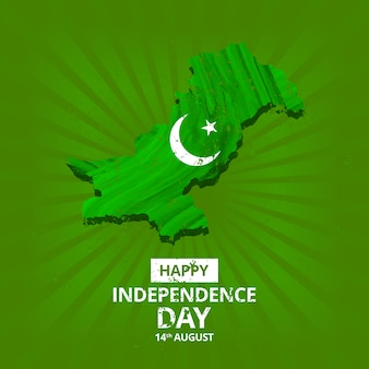 Pakistan independence day map