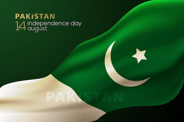 Pakistan onafhankelijkheidsdag 14 augustus groet vector achtergrondontwerp met arabische kalligrafie