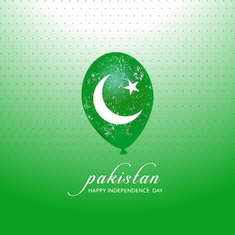 Pakistan vlag ballon voor independence day