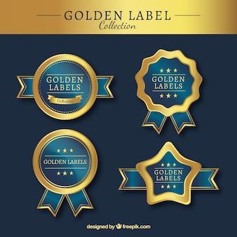 Pakje gouden luxe stickers