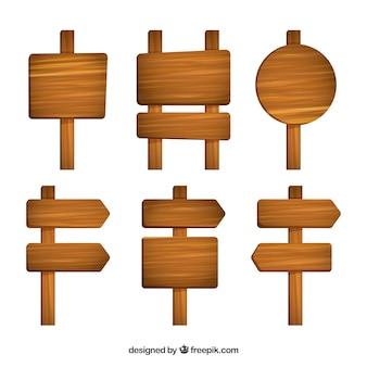 Pakje hout teken in plat ontwerp