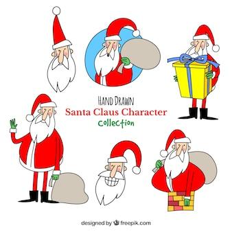 Pakje met de hand getekende grappige kerstman