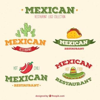 Pakje mexicaanse restaurantlogo's