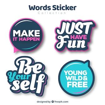 Pakje moderne stickers