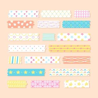 Pakje platte, mooie washi-tapes
