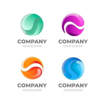 Pakje platte ontwerp o logo sjablonen