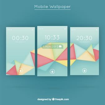Pakje polygonale vormen mobiele wallpapers