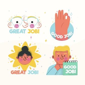 Pakje stickers voor goede banen
