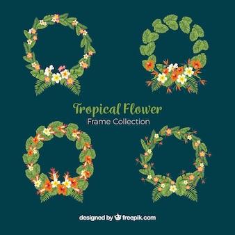 Pakje tropische bloemkransen