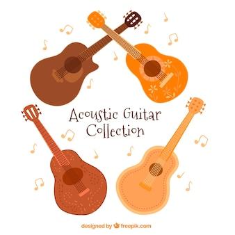 Pakje van vier akoestische gitaren