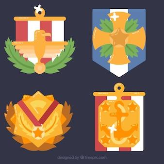 Pakje van vier gouden medailles voor veteranen dag