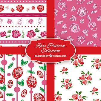 Pakje van vier patronen met rozen