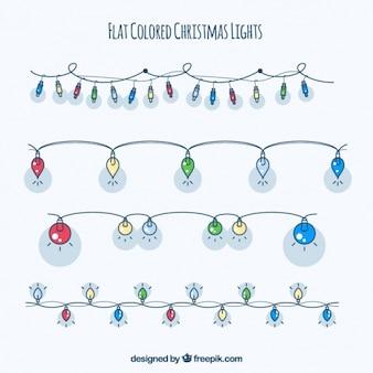 Pakje van vier string met kleurrijke lampen