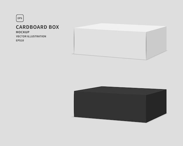 Pakket kartonnen doos set illustratie