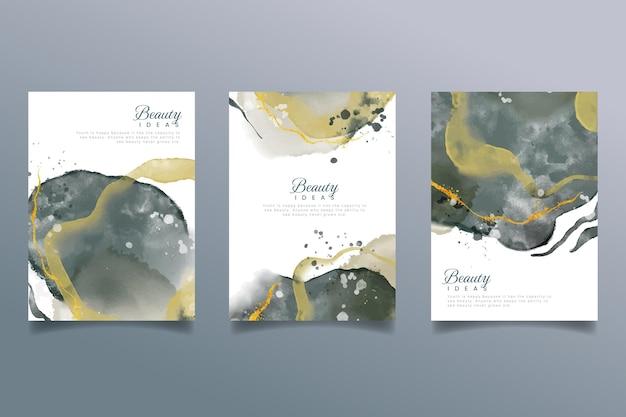Pakket met abstracte aquareldekking