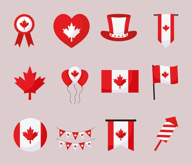 Pakket met canadese dagitems