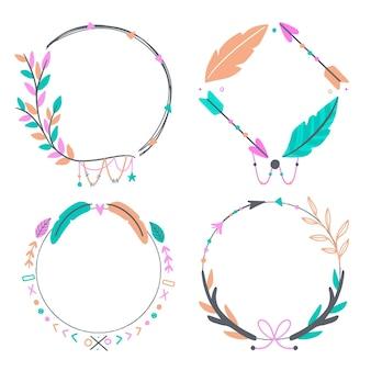 Pakket met getekende boho-frames