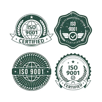 Pakket met iso-certificering