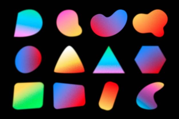 Pakket met korrelige verloopvormen met kleurovergang