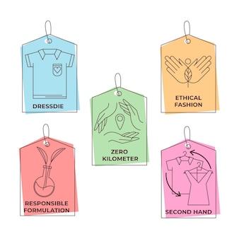 Pakket met langzame mode-badges