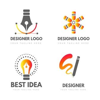 Pakket met logo-sjablonen voor grafisch ontwerper
