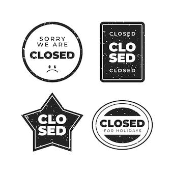Pakket met platte gesloten zegelzegels