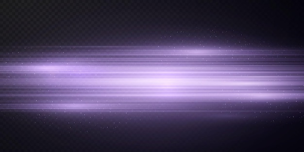 Pakket met roze horizontale highlights laser neonstralen horizontale lichtroze stralen