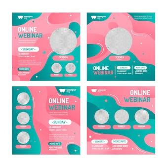 Pakket met webinar posts op sociale media