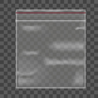 Pakket plastic zak op transparante achtergrond