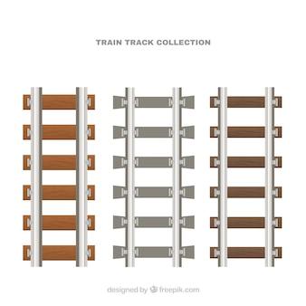 Pakket van treinsporen in plat ontwerp