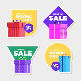 Pakket verkoopetiketten voor tweede kerstdag
