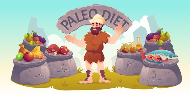 Paleo dieet ingrediënten collectie