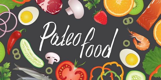 Paleo voedsel achtergrond