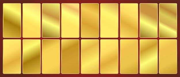 Paletset met diepe gouden premium gradiëntstalen