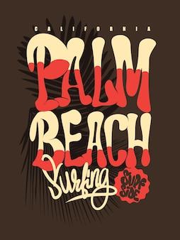 Palm beach california t-shirt afbeelding.