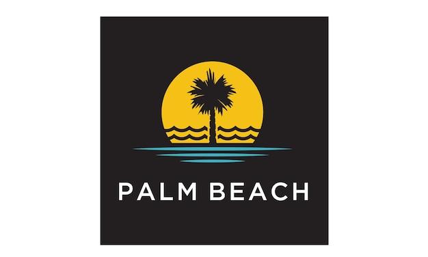 Palm beach logo ontwerp inspiratie