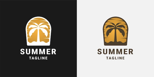 Palm beach logo ontwerpsjabloon