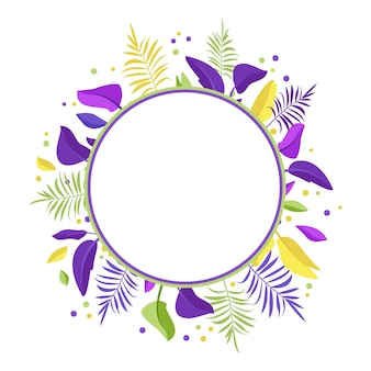 Palm exotische bladkrans of ronde frame zomer feestelijke decoraties