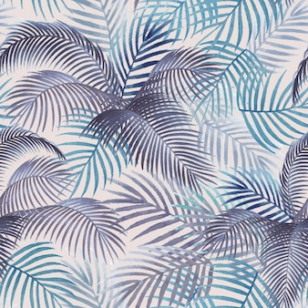 Palm laat patroon mockup illustratie