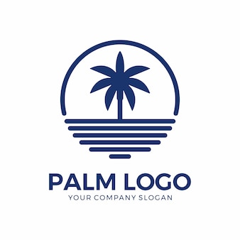 Palm logo ontwerp inspiratie